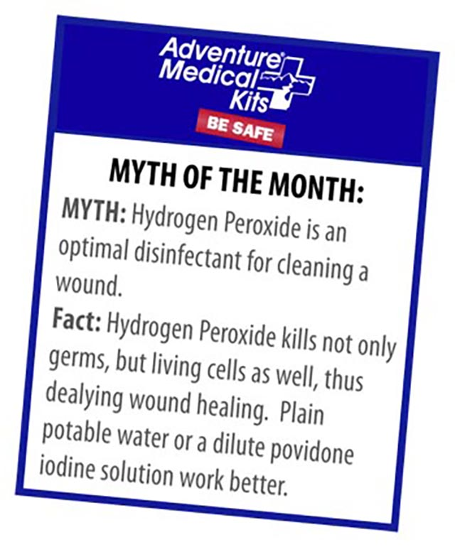 Hydrogen Peroxide myth of the month