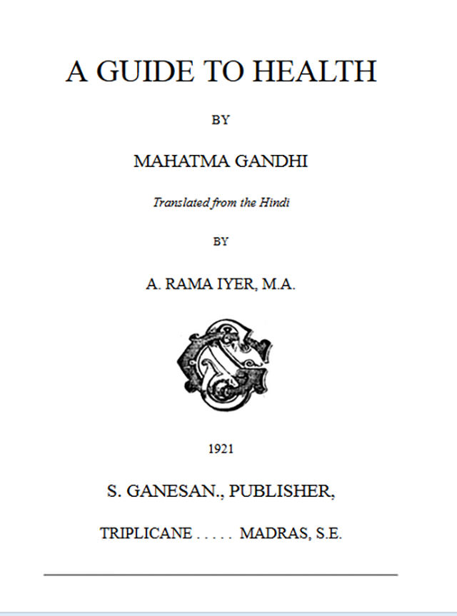Gandhi on Smallpox and Other Contagious Diseases 1
